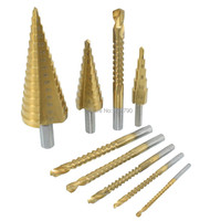 9pcs Drill Saw Set 3mm 4mm 5mm 6mm 6.5mm 8mm Saw Rotary File Reamer Router Drilling Step Drill Bit Cone Drill Bit 4-12/20/32mm