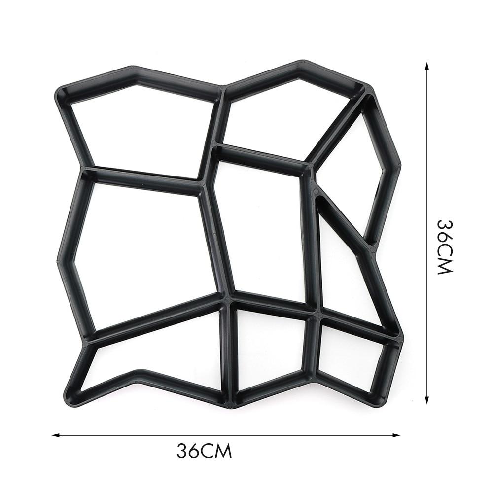 36*36 cm Tuinpad Maker Vorm Onregelmatige Model Beton Stepping Stone Cement Mal Baksteen DIY Huis Tuin Gereedschap 1