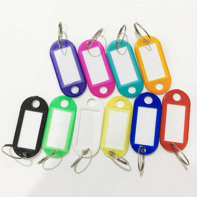 Plástico colorido Chave Berloques ID Tags adesivos Brindes Chave Anéis Língua 2018 Nova Chegada Hot Sale 1 PC 10 PCS gracioso Unique 10 Cores