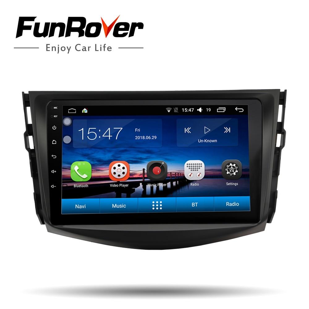 Funrover IPS Voiture lecteur Multimédia Android 8.0 2 din voiture dvd gps navigation Pour Toyota RAV4 Rav 4 2007- 2011 voiture radio stéréo BT