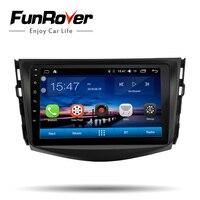 Funrover Ips 4 ядра 2 din автомагнитолы Автомобильная dvd навигационная система плейер Android 8.0 автомагнитола dvd плеер для toyota rav4 2007 2008 2009 2010 2011 магнитол