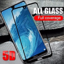5D Protective Glass On Honor 8X 7X 8C 9 10 Lite Tempered Glas Screen Protector P30 20 Mate P Smart Plus Full Cover Film