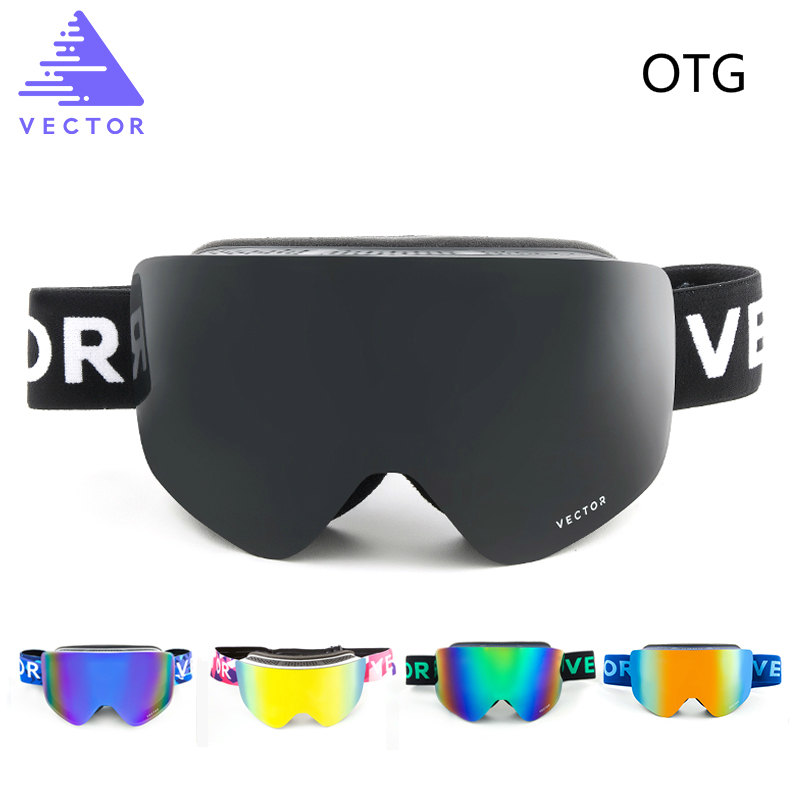 OTG Ski Goggles Snow Glasses Men Skibrille Anti fog Coatings Skateboard Snowboard Skiing Women Sunglasses Outdoor Winter Sport