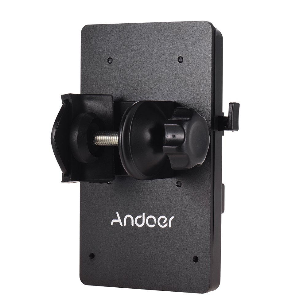Andoer V Mount V-Lock Battery Plate Power Supply Adapter System D-tap Connector W/ Clamp For Sony Camera BP Battery