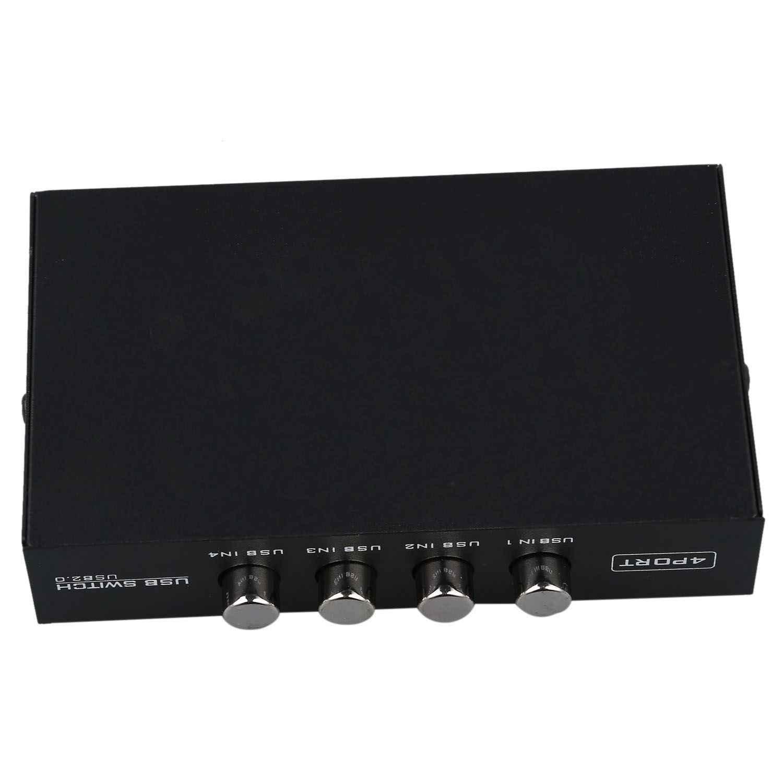 Terbaru Mini 4 Port USB Printer Scanner Berbagi Saham Switch Splitter Kotak Hub
