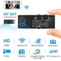 HD 1080P DIY Portable Mini WIFI Security Camera Wireless Micro Webcam Camcorder With Motion Detection Alarm
