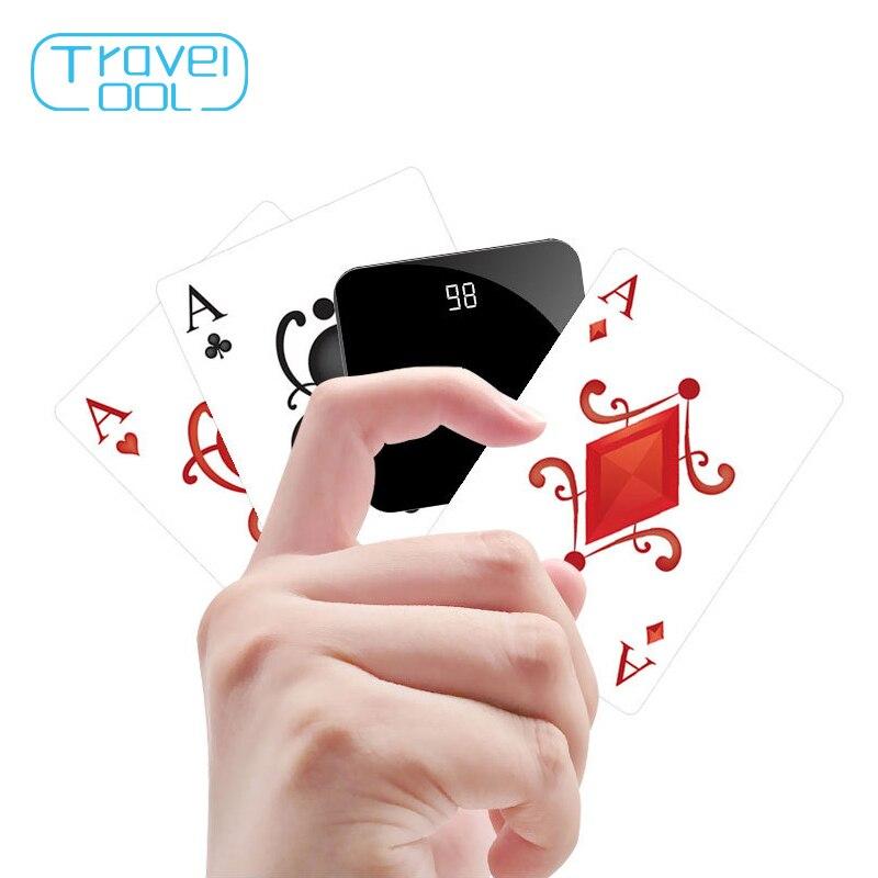 Travelcool mini batterie externe 8000 mAh pour iPhone affichage numérique Portable batterie externe pour Samsung Note9 Xiaomi Powerbank