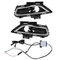 1 пара автомобилей дневного света один светодиодный светодиодные противотуманные фары крышка для Ford Mondeo 13 16 лампы ходовые огни