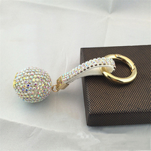 Hotsale Women Rhinestone Key Chain New Leather Strap Crystal Ball Car Keychain Charm Pendant Key Ring Shiny Jewelry Key Chain new fashion women heart rhinestone keychain pendant car key chain ring holder jewelry exquisite gifts m23
