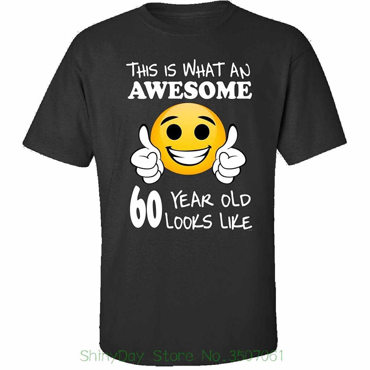 Tops Summer Cool Funny T Shirt Emoji Birthday 60th Presents Men 60 Year Old
