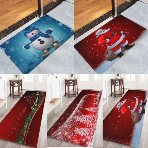 Christmas Xmas Soft Bathroom Bedroom Christmas Bath Mat Floor Rug Carpet With Non Slip