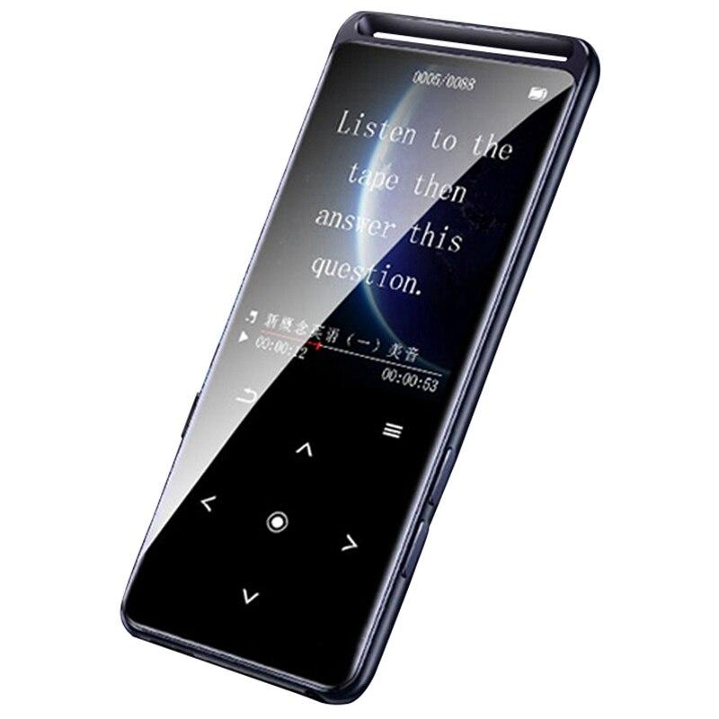 Benjie m6 bluetooth 5.0 lossless mp3 player 16 gb de alta fidelidade portátil áudio walkman com rádio fm ebook gravador voz