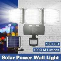 Adjustable 10M Sensor 188psc LED Solar Led Outdoor Solar Light Garden Solar Lights Outdoor Waterproof