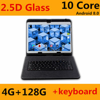 Android 8.0 OS Google Play Store 3G 4G LTE 10 inch MTK6797 Deca Core Tablet 4GB+128GB Dual SIM Trays 1280*800 IPS 2.5D Glass