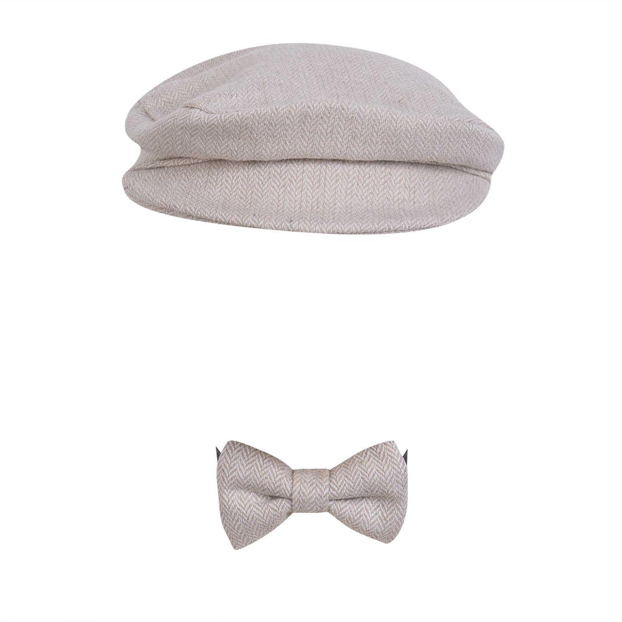 2019 ขายร้อนทารกแรกเกิดคุณภาพสูง Peaked หมวกหมวกหมวก + Bow Tie Photo การถ่ายภาพ Prop ชุด 6 สี