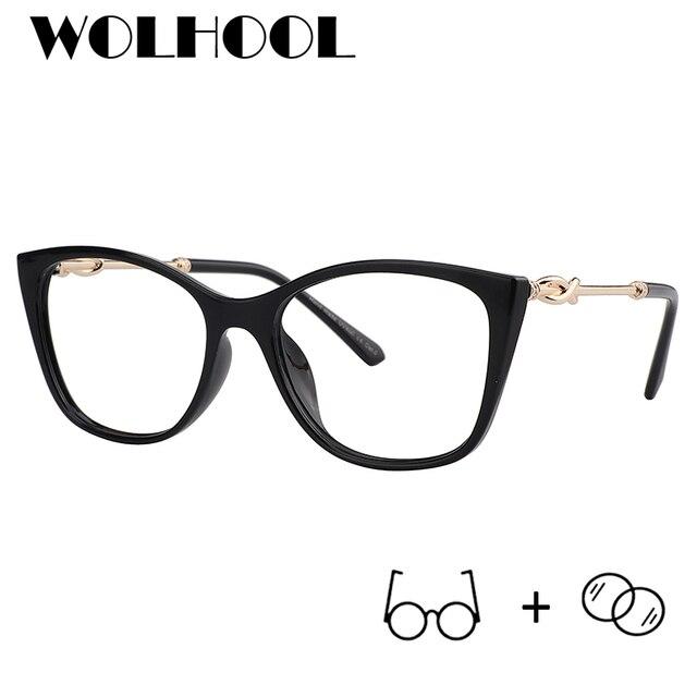 80bad662d025 Fancy Glasse Metal Frame Designer Eyeglasses Frame Women Eyewear Frames  Black Prescription Glasses with Optical Lens
