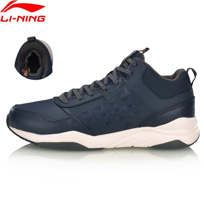 Li-ning hommes LN DEFENDER chaussures de marche chaud polaire portable doublure respirante confort chaussures de Sport baskets classiques AGCN123 YXB234