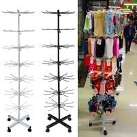 7 Tiers 70 Hooks Rotating Rack Socks Hat Cap Display Stand Hanger Wig Scarves Bracelet Pendant Storage Holder Shelf Rack Shelves