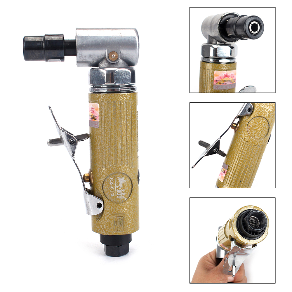 1/4'' Mini Right Air Angle Die Grinder 90 Degree Pneumatic Tool 3MM 6MM Collet 25000RPM free shipping new 2016 professional air toole air die grinder kit 1 8 or 3mm collet size 58000rpm 90psi adjustable speed