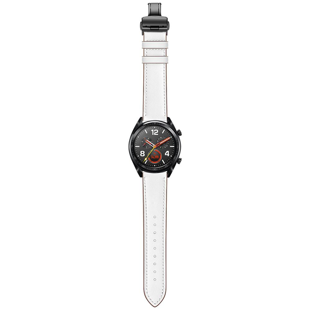 Image 4 - Smart Sports Watch With Strap Leather Watch Strap Watch GT Butterfly Buckle Leather Watch Band 22MM Classic And Stylish-in Smart Accessories from Consumer Electronics