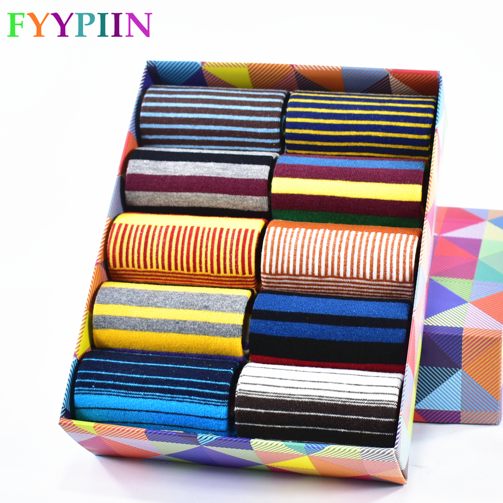 2019 Real Limited Mens Socks Spring and summer Fashion Men's Color Striped And Last Design Style Cotton summer socks(China)