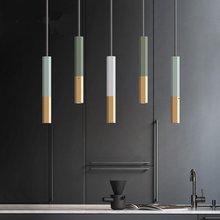 Nordic Led Pendant Lights Restaurant Long Tube Living Room Lamp Dining Bar Hanging Lamps Kitchen Fixtures Luminaire