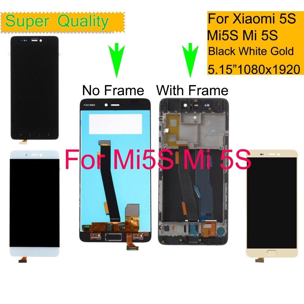 10 pçs/lote para xiao mi 5S mi 5S display lcd tela de toque digitador do painel pantalla monitor mi 5S conjunto completo com quadro