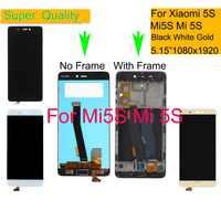 10 unids/lote para Xiaomi mi 5S mi 5S LCD Pantalla táctil digitalizador Panel Pantalla monitor mi 5S LCD montaje completa con marco