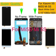 10Pcs/lot For Xiaomi Mi 5S Mi5S LCD Display Touch Screen Digitizer Panel Pantalla monitor Mi5S LCD Assembly Complete With Frame цена в Москве и Питере