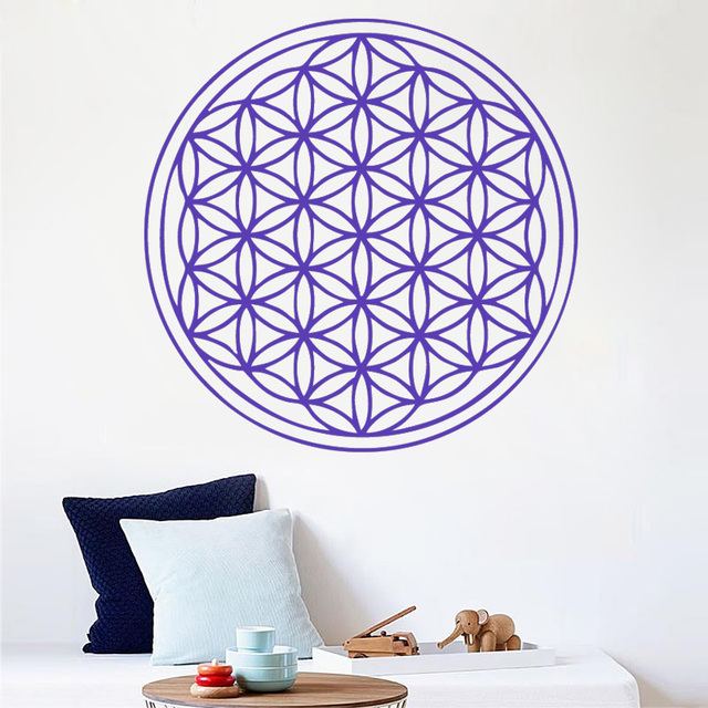 seed flower of life wall decal art decor sticker vinyl sacred