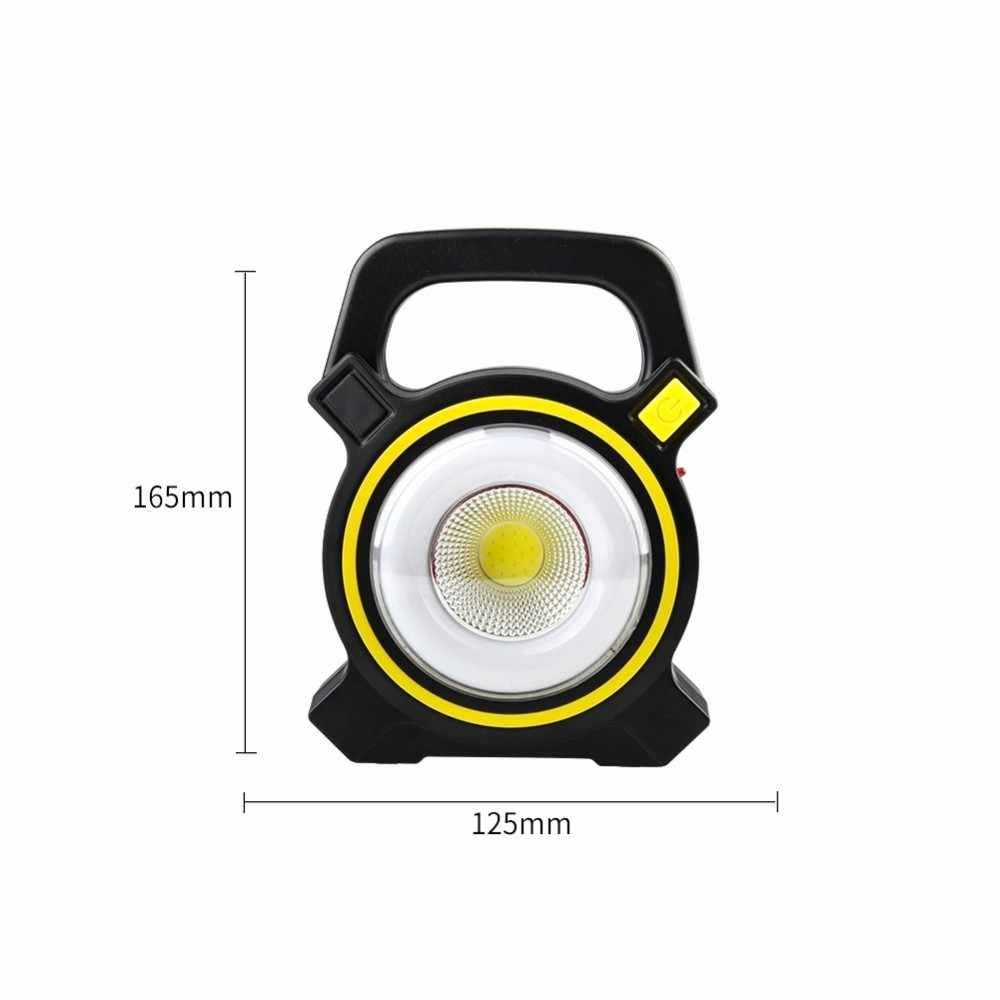 Solar Portable Rechargeable LED Floodlight 50W COB LED Outdoor Garden Work USB Battery Powered Spot Lamp Tent Light