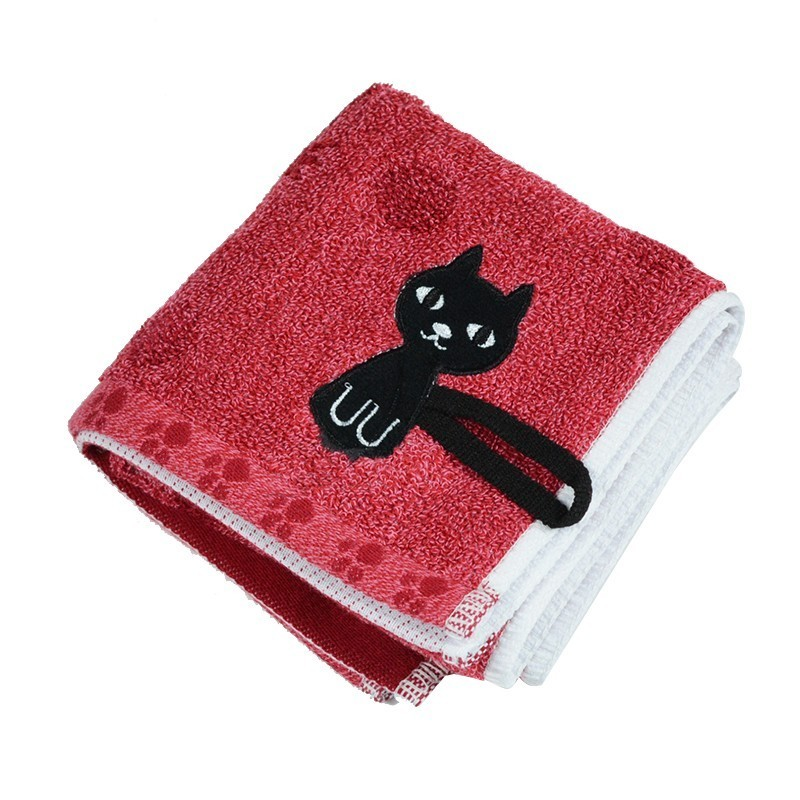 1Pc Cotton Face Towel Creative Kitten Pattern Soft Child-Towel Household Hand Towel Cute Cartoon Long Tail Cat Gift Towel