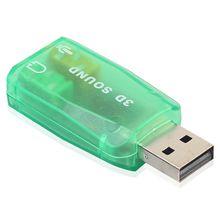 USB аудио адаптер, внешний адаптер Звуковая карта с динамиком для наушников и микрофона разъем для USB аудио устройства