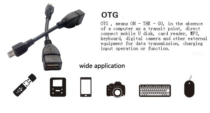 USB Host OTG Adaptor Adapter Works with Velocity Micro Cruz Tablet T301 T105 T104