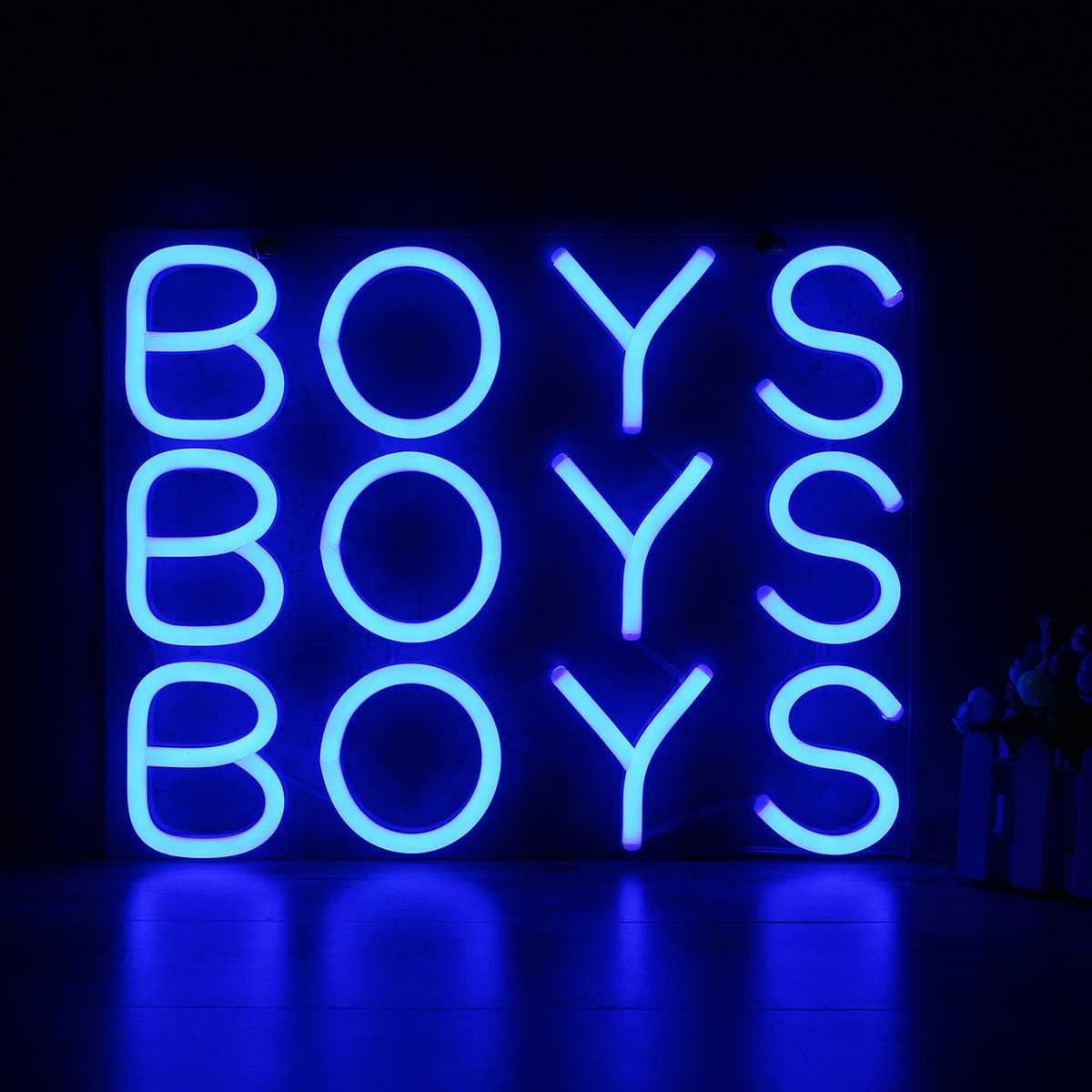 10 Inch 25x25 cm garçons néon signe lumière bière Bar Pub fête décoration maison chambre mur ornements cadeaux éclairage US Plug