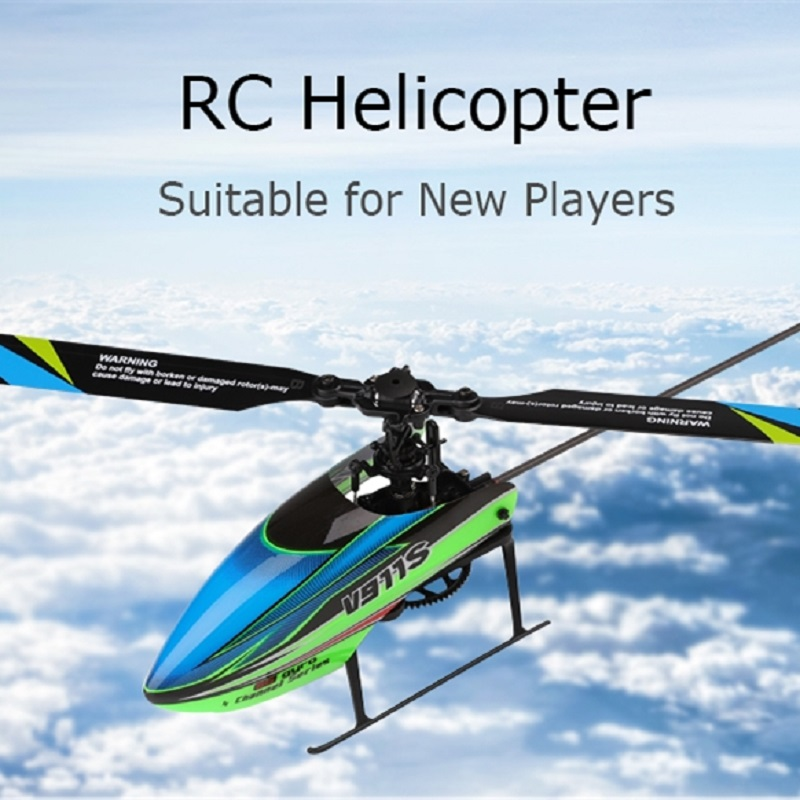 WLtoys V911S Flybarless RC Helicopter 2.4G 4CH 6 Aixs Gyro RTF LCD Display High Flight Stability For New Players Beginners