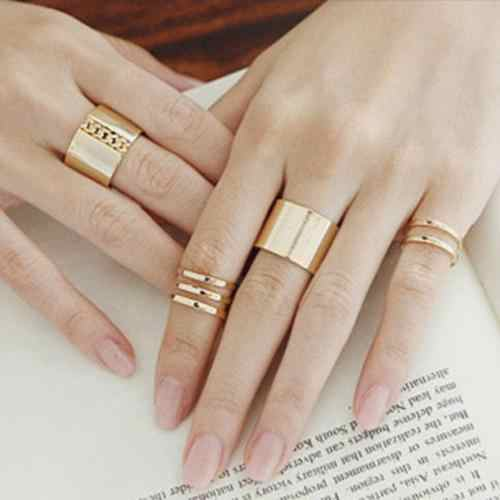 3 Pcs/Set Finger Midi Tip Finger Knuckle Open Rings Set Jewelry Charms Xmas stainless steel women rings bijoux femme hotsale
