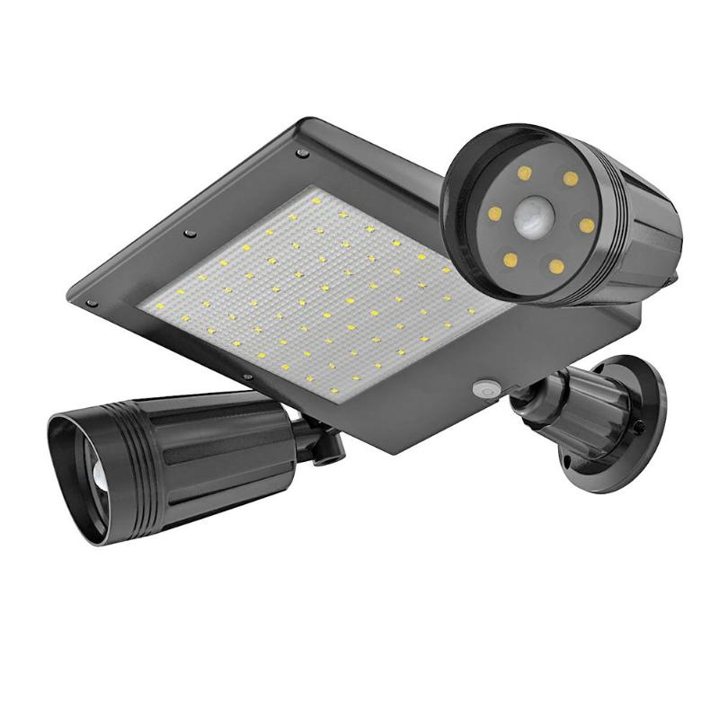 Foco Led Exterior Outdoor Sensor Dual Head Solar Security Motion Floodlight Panel Light Lamp flood light Accessories