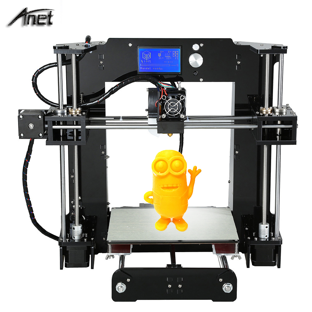 Additional single nozzle 3D printer kits prusa i3 reprap Anet A6 with SD card PLA ABS Filament in 3D Printers from Computer Office