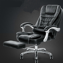 Thicken Cushion Soft Boss Chair Reclining Office Chair Lift Household Massage Chair with Footrest Swivel Computer Chair Soft computer office boss chair household lying executive chair super soft leisure swivel lift synthetic leather chair with footrest