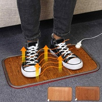 2 color Office Electric Heating Foot Mat Winter home Electric Heating Pad Warm Feet Thermostat Carpet Leather Household Warming