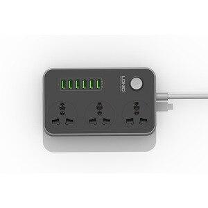 Image 2 - Tira de alimentación de plomo de extensión USB, 6 cargador de enchufe múltiple, toma de 3 vías, zócalo de salida de tiras de tablero estándar británico,