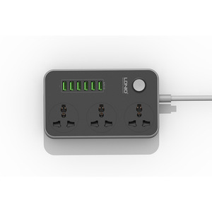 Image 2 - USB extension lead power strip, 6 multi plug charger, 3 way socket,,British Standard Board Strips Outlet socket,