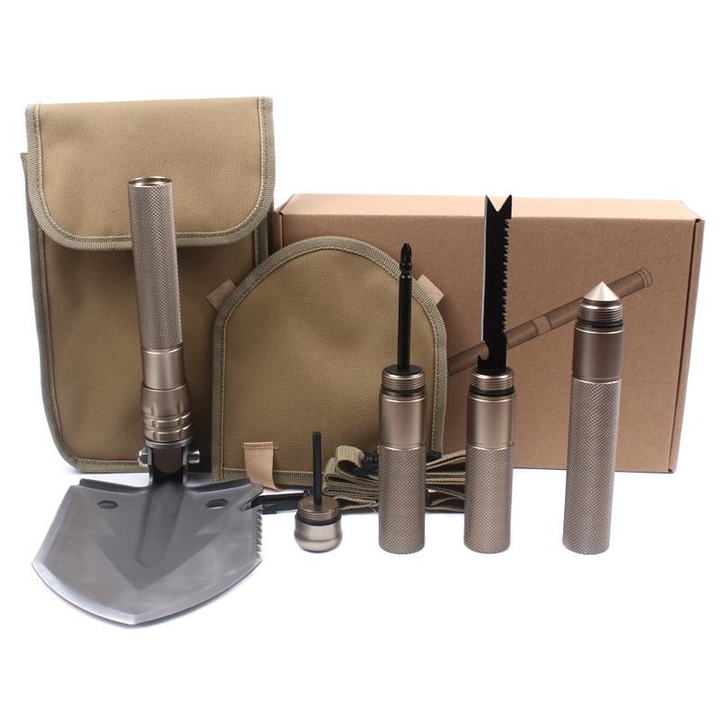Camping en plein air camping fournitures outils multifonctionnel pelles pliantes portable multi-fonction pelle survie sur le terrain