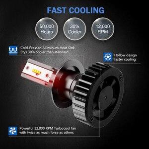 Image 4 - Mdatt סופר בהיר H7 H4 LED פנסי מכונית Canbus ZES פנס הנורה 110W 11000LM H1 9005 9006 H8 H9 6000K 12V אוטומטי אור