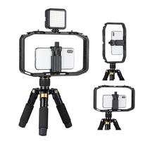 U Rig Pro Smartphone Video Rig with 2 Shoe Mounts Filmmaking Case Handheld Phone Video Stabilizer Grip Tripod Mount Stand