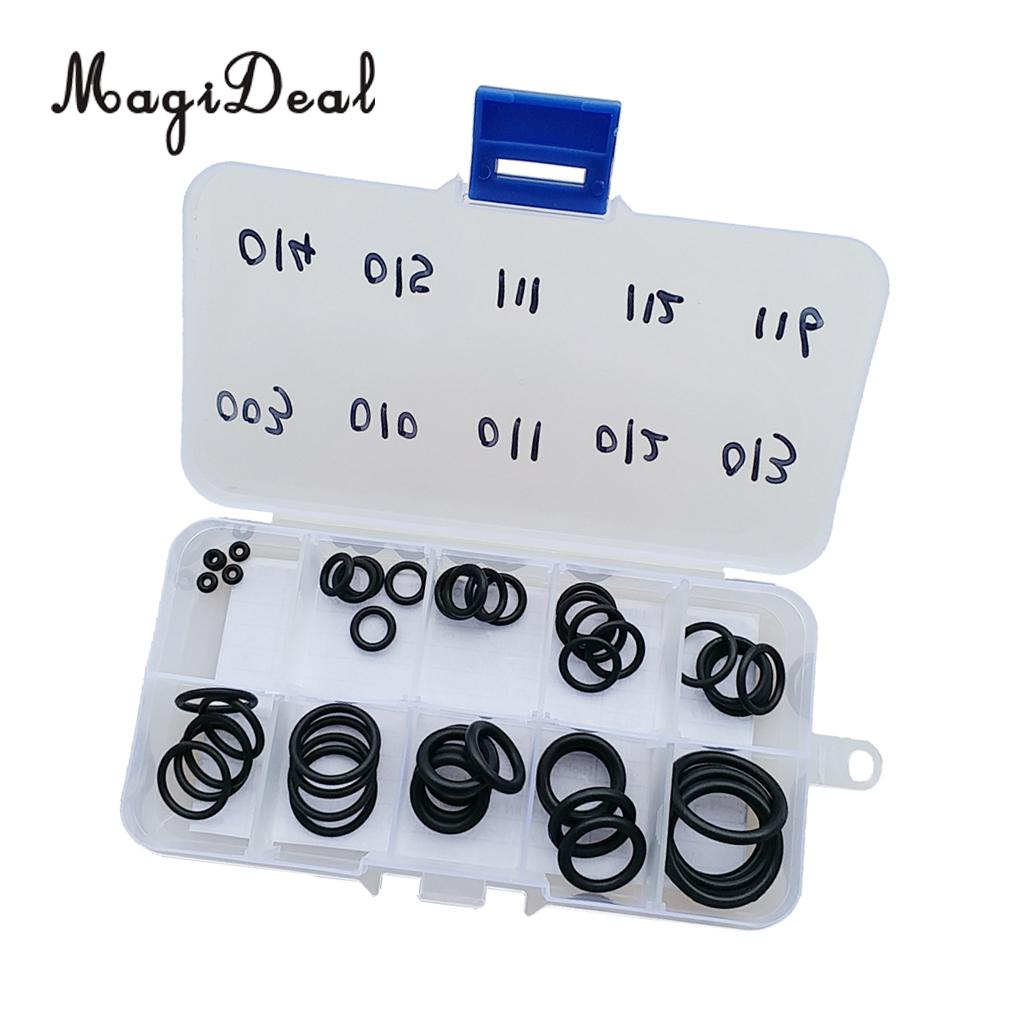 12 Sizes for Dive Tank Vlave Hoes Regulator etc Pack of 170 Scuba Diving Rubber O-Ring Kit Assorted Set with Pick /& Case