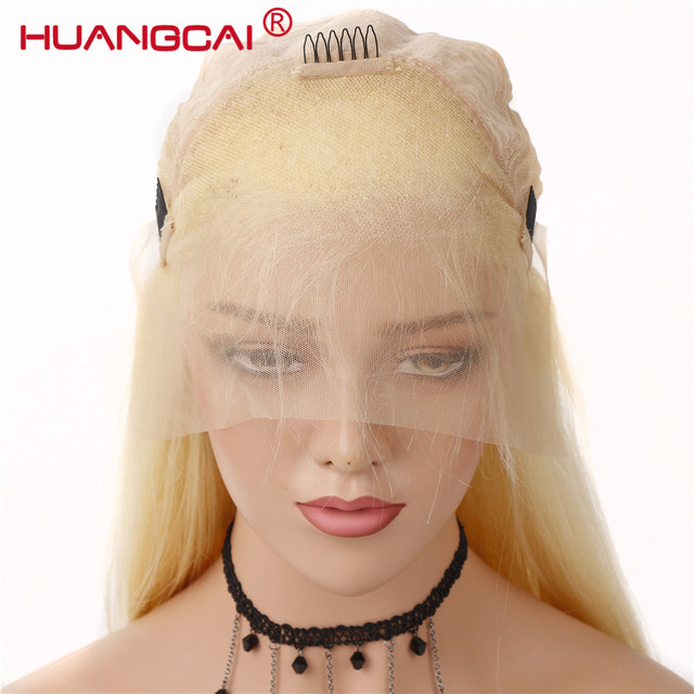 #613 Blonde Wigs 150% Density Brazilian Straight Remy Human Hair Lace Front Wig Pre Plucked With Baby Hair Blonde Lace Wigs 3
