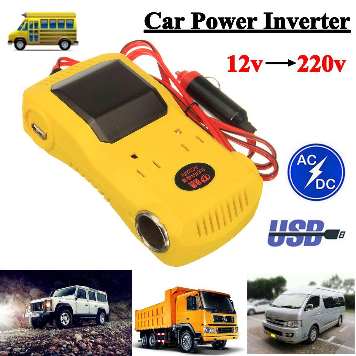 KROAK 1000 W Auto Power Inverter 12 V DC Zu 220 V AC Converter LCD Display Dual USB