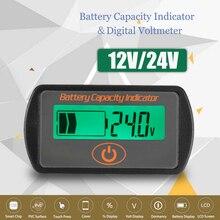 12V/24V Durable LCD Digital Display Lead-Acid Battery Percentage Voltmeter Voltage Meter Batterie Capacity Test Tool